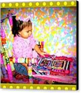 Princess Bella In The Original Magical Rocking Chair Canvas Print by Maryann  DAmico