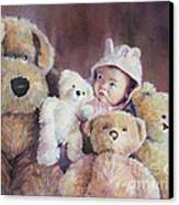 Princess Layla And Friends Canvas Print by Gabriele Baber