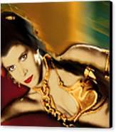 Princess Leia Star Wars Episode Vi Return Of The Jedi 1 Canvas Print by Tony Rubino