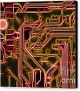 Printed Circuit - Motherboard Canvas Print
