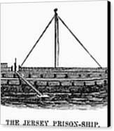 Prison Ship: Jersey Canvas Print by Granger