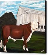 Prize Bull Canvas Print by Michelle Joseph-Long
