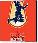 Pro Am Basketball Invitational Retro Poster Canvas Print by Aloysius Patrimonio