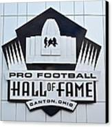 Pro Football Hall Of Fame Canvas Print