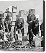 Prohibition Feds Destroy Liquor  1923 Canvas Print by Daniel Hagerman