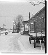 Prosser Winter Train Station  Canvas Print