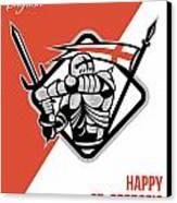 Proud To Be English Happy St George Greeting Card Canvas Print by Aloysius Patrimonio