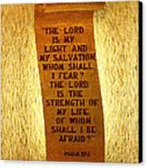 Psalm 27 Canvas Print by James Hammen