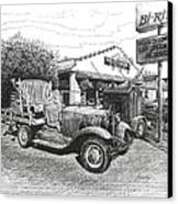 Puckett's Grocery And Restuarant Canvas Print
