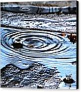 Puddle Water Droplet Canvas Print