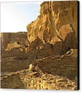 Pueblo Bonito And Cliff Canvas Print