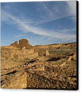 Pueblo Bonito Walls And Rooms Canvas Print by Feva  Fotos