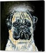 Pug Angel Canvas Print by Jay  Schmetz