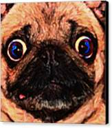 Pug Dog - Painterly Canvas Print by Wingsdomain Art and Photography