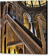 Pulpit In The Aya Sofia Museum In Istanbul  Canvas Print by David Smith