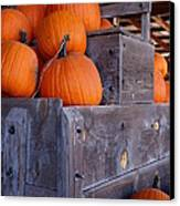Pumpkins On The Wagon Canvas Print by Kerri Mortenson
