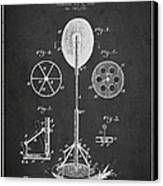 Punching Apparatus Patent Drawing From1895 Canvas Print