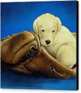 Puppy Glove... Canvas Print