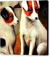 Puppy Love 2 Canvas Print by Hazel Holland