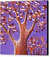 Purple And Orange Canvas Print by Anastasiya Malakhova