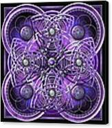 Purple And Silver Celtic Cross Canvas Print by Richard Barnes