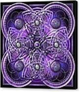 Purple And Silver Celtic Cross Canvas Print