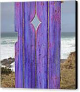 Purple Gateway To The Sea  Canvas Print by Asha Carolyn Young