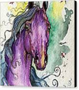 Purple Horse Canvas Print by Angel  Tarantella