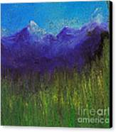 Purple Mountains By Jrr Canvas Print