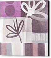 Purple Patchwork- Contemporary Art Canvas Print by Linda Woods