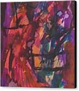 Purple Prayer Canvas Print by Beena Samuel