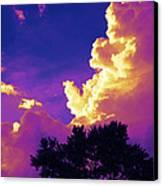 Purple Thunder Canvas Print