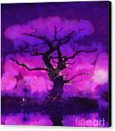 Purple Tree Of Life Canvas Print