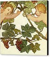 Putti Frolicking In A Vineyard Canvas Print