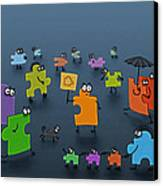 Puzzle Family Canvas Print