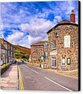 Quaint Cornwall In The Little Village Of Boscastle Canvas Print by Mark E Tisdale