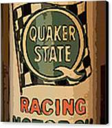Quaker State Oil Can Canvas Print