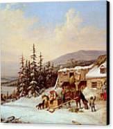 Quebec Canvas Print by Cornelius Krieghoff