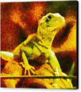 Queen Of The Reptiles Canvas Print by Ayse Deniz