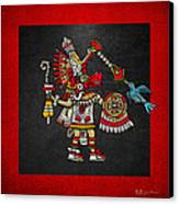 Quetzalcoatl In Human Warrior Form - Codex Magliabechiano Canvas Print by Serge Averbukh