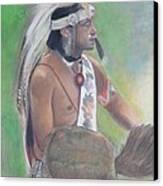 Wampanoag Dancer Canvas Print by Terri Ana Stokes
