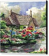 Quiet House Along The River Canvas Print
