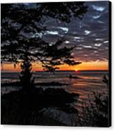 Quoddy Sunrise Canvas Print by Marty Saccone