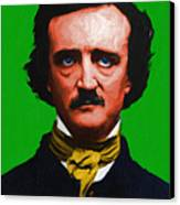 Quoth The Raven Nevermore - Edgar Allan Poe - Painterly - Green Canvas Print by Wingsdomain Art and Photography