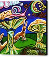 Rabbits At Night Canvas Print