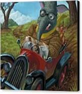 Racing Car Animals Canvas Print by Martin Davey