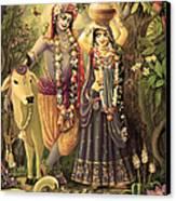 Radha-krishna Radhakunda 2 Canvas Print by Lila Shravani