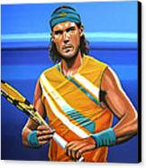Rafael Nadal Canvas Print by Paul Meijering