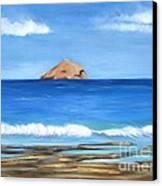 Raftis Islet Canvas Print by Kostas Koutsoukanidis