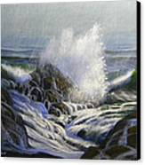 Raging Surf Canvas Print by Frank Wilson